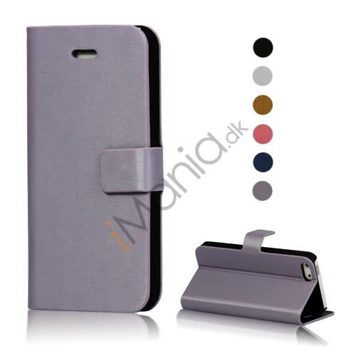 Image of   Tegnebog Læder Flip Taske Etui til iPhone 5