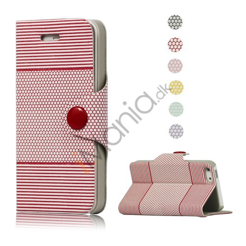 Anti-slip læder tegnebog Taske med indbygget Stand til iPhone 5