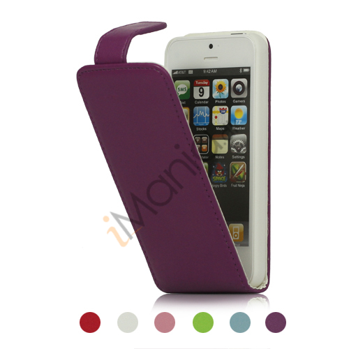 Image of   Lodret PU Leather Wallet Flip Case iPhone 5 cover