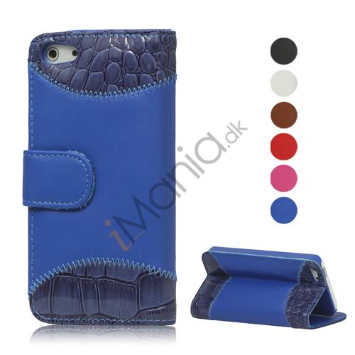 Image of   Magnetisk PU læder tegnebog Case med Stand til iPhone 5