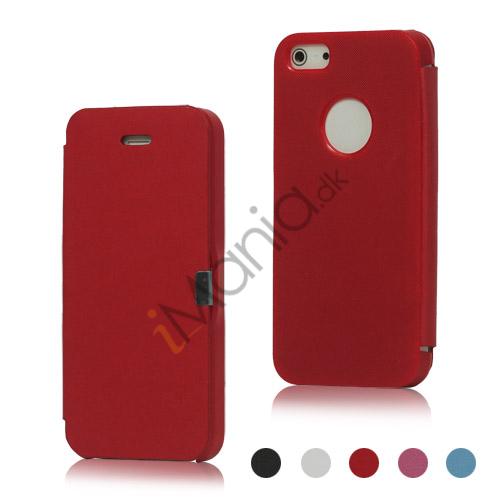 Image of   Magnetisk Hard Beskyttelses Cover PU læder tegnebog Case til iPhone 5