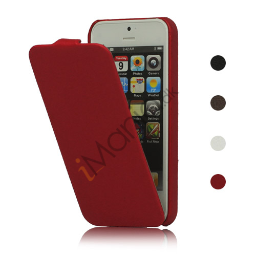 Image of   Slim Læder Case iPhone 5 cover