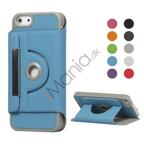 Premium Magnetisk Læder Taske Cover med Holder til iPhone 5
