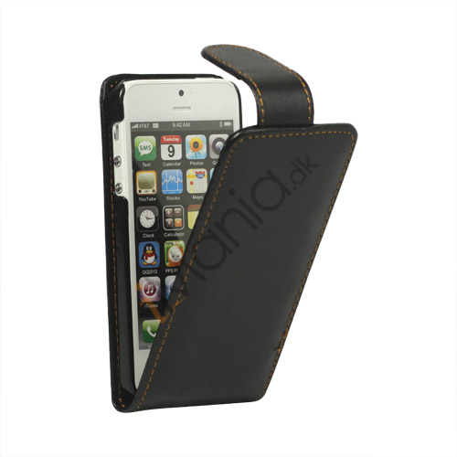 Image of   Premium Magnetisk Leather Case iPhone 5 cover
