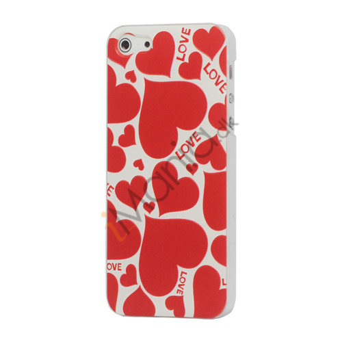 Image of   Candied Hearts Plastic Case til iPhone 5