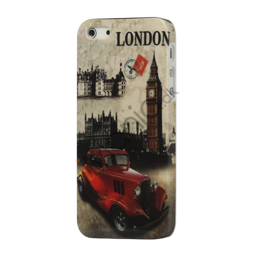 London Retro Bus iPhone 5 Hard Plastic Case
