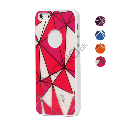 Image of   Blankt Diamond Mønster hård plast Case iPhone 5 cover