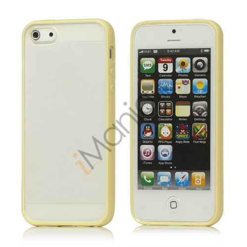 Image of   Frosted Plastic and TPU Hybrid Case iPhone 5 cover - Gul