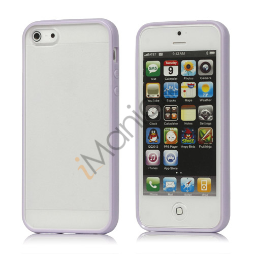 Image of   Frosted Plastic and TPU Hybrid Case iPhone 5 cover - Lilla