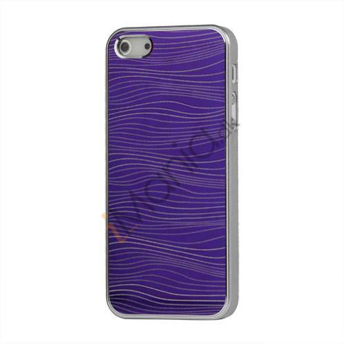 Bright Water Bølge Hard Case iPhone 5 cover - Lilla