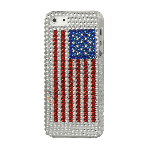 Diamante USA Flag Bling Case iPhone 5 cover