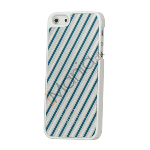 Image of   Diagonal Aluminium hård plast Case til iPhone 5 - Blå