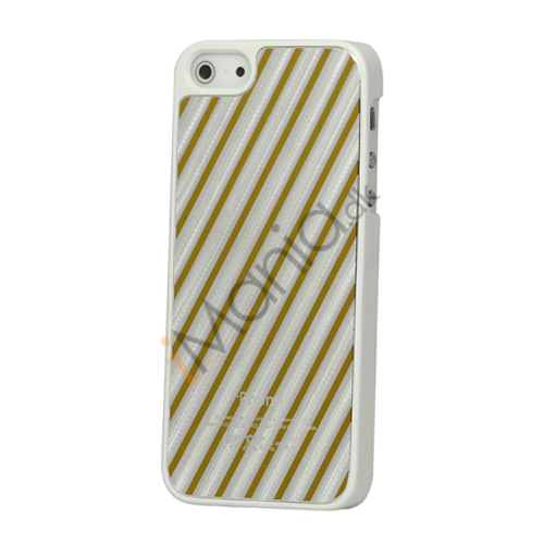 Diagonal Aluminium Hard Plastic Case til iPhone 5 - Gold