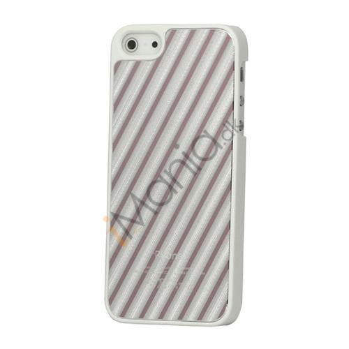 Image of   Diagonal Aluminium hård plast Case til iPhone 5 - Pink