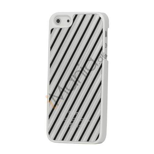 Diagonal Aluminium hård plast Case til iPhone 5 - Sort