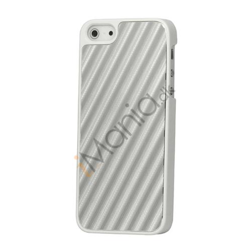 Image of   Diagonal Aluminium hård plast Case til iPhone 5 - Sølv