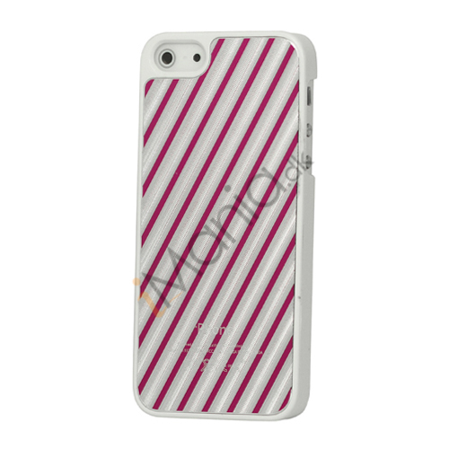 Diagonal Aluminium hård plast Case til iPhone 5 - Rose