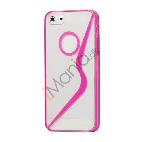 Billede af S Formet Gennemsigtig Hard Case iPhone 5 cover - Rose