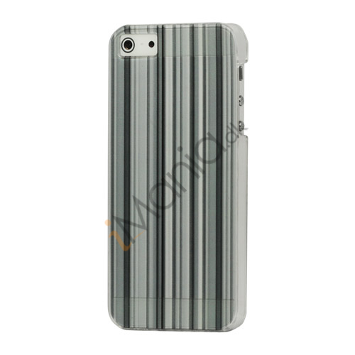 Image of   Grå Lodret Bar Hard Back Case til iPhone 5