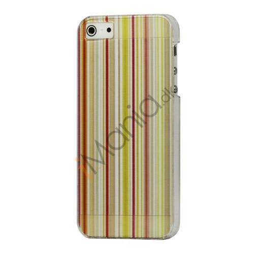 Image of   Farvelagt Lodret Bar Hard Cover Case til iPhone 5