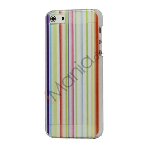 Billede af Farverige Stripe Hard Beskyttende Case til iPhone 5