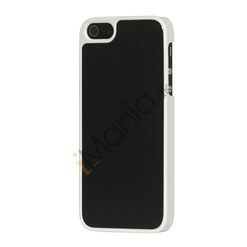 Luksus børstet aluminium Case Cover til iPhone 5 - Sort