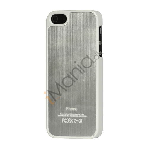 Luksus børstet aluminium Case Cover til iPhone 5 - Sølv