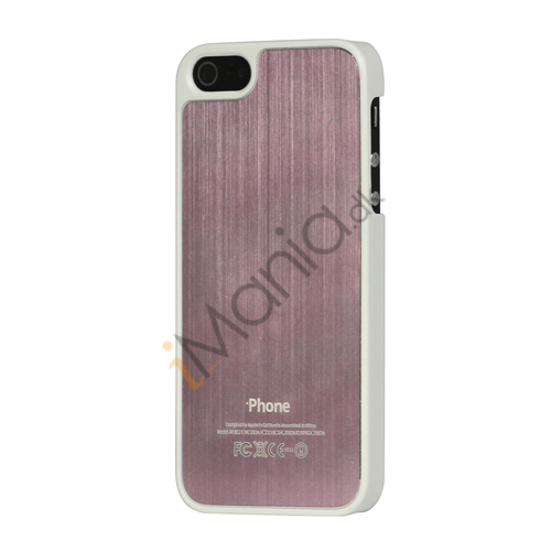 Luksus børstet aluminium Case Cover til iPhone 5 - Pink