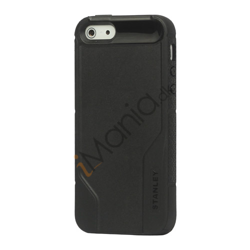 Vacuum Bottle Mønster TPU  and  Plastic Hybrid Case til iPhone 5 - Sort