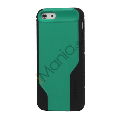 Vacuum Bottle Mønster TPU  and  Plastic Hybrid Case til iPhone 5 - Sort / Grøn