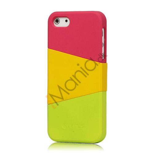 Billede af Farvelagt Triplex Slide Hard Plastic Cover Case til iPhone 5 - Rose
