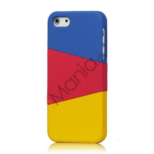 Billede af Farvelagt Triplex Slide Hard Plastic Cover Case til iPhone 5 - Mørkeblå