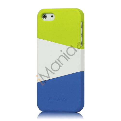 Image of   Farvelagt Triplex Slide Hard Plastic Cover Case til iPhone 5 - Grøn