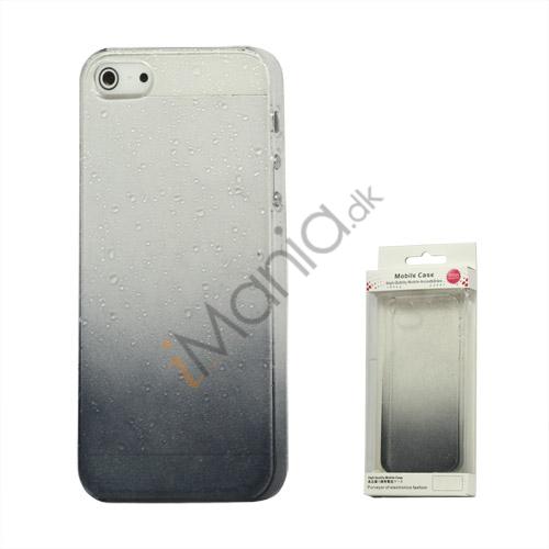 Image of   Gradient Color Regndråbe Hard Case til iPhone 5 - Grå