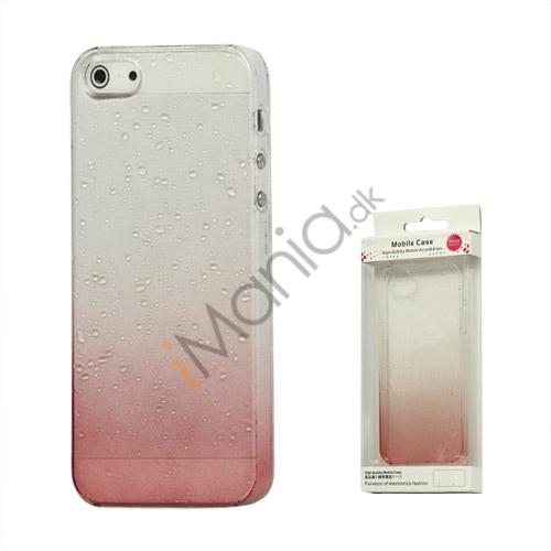 Image of   Gradient Color Regndråbe Hard Case til iPhone 5 - Rød