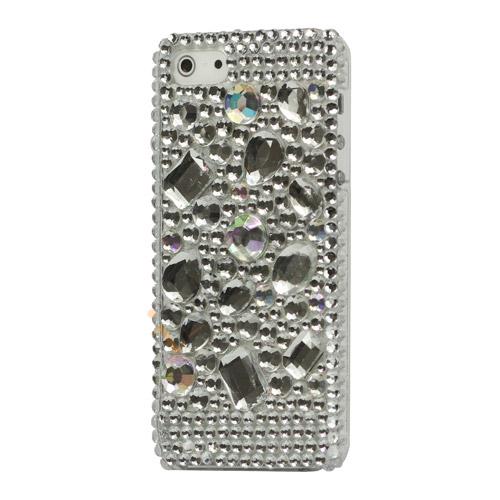 Glitrende forskelligt formede Smykkesten Case iPhone 5 cover