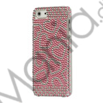 Pink Heart Glitrende Smykkesten Crystal Case iPhone 5 cover