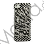 Twinkling Diamond Zebra Bling Case iPhone 5 cover