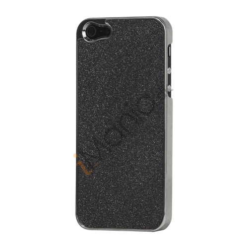 Glitrende Powder Metalbelagt Hard Case iPhone 5 cover - Sort