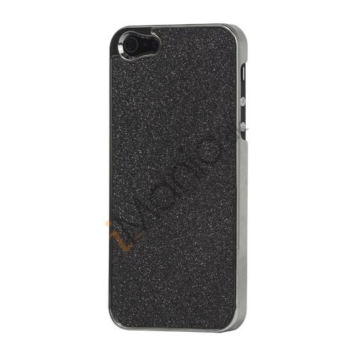 Image of   Glitrende Powder Metalbelagt Hard Case iPhone 5 cover - Sort