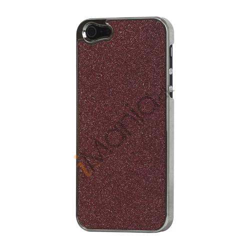 Image of   Glitrende Powder Metalbelagt Hard Case iPhone 5 cover - Rød