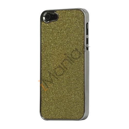 Image of   Glitrende Powder Metalbelagt Hard Case iPhone 5 cover - Gold