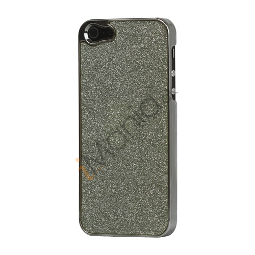 Glitrende Powder Metalbelagt Hard Case iPhone 5 cover - Grå