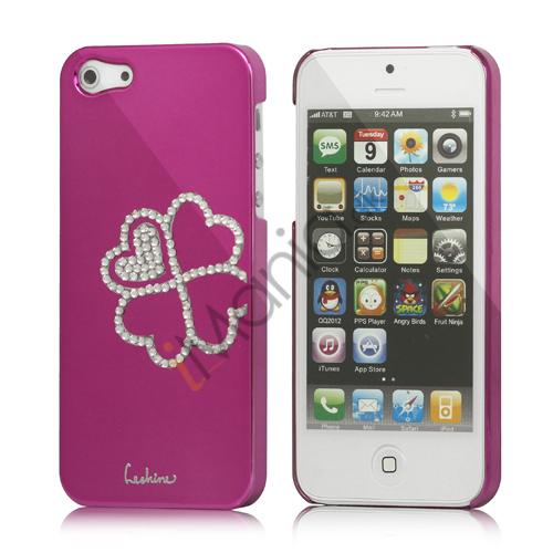 Image of   Kløver Cadmieret Diamant Case Cover til iPhone 5 - Rose