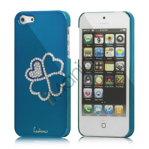 Image of   Kløver Cadmieret Diamant Case Cover til iPhone 5 - Capri Blå