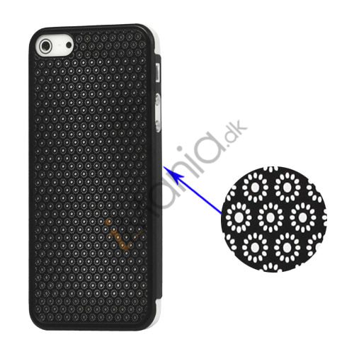 Metallic udhulet Floral Mesh Case iPhone 5 cover - Sort