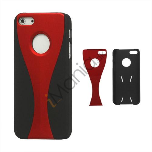 Image of   Aftagelig Goblet Hard Beskyttende Case til iPhone 5 - Sort / Rød