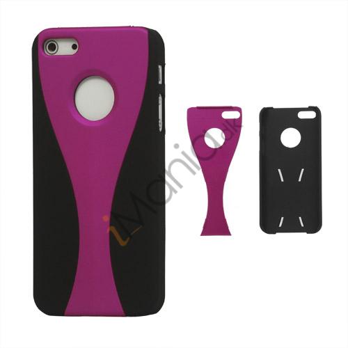 Image of   Aftagelig Goblet Hard Beskyttende Case til iPhone 5 - Sort / Rose