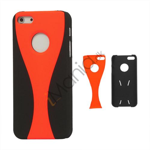 Image of   Aftagelig Goblet Hard Beskyttende Case til iPhone 5 - Sort / Orange