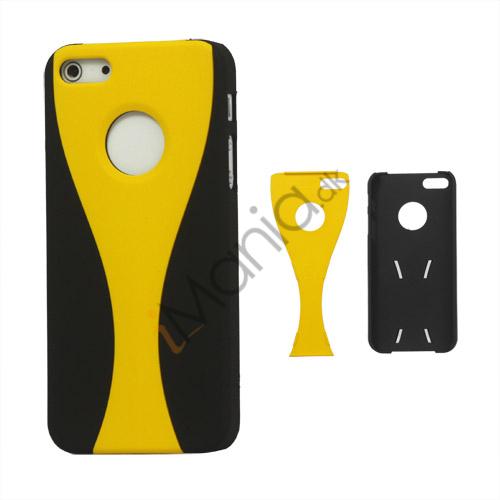 Image of   Aftagelig Goblet Hard Beskyttende Case til iPhone 5 - Sort / Gul
